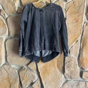 Ocean Drive Distressed sweatshirt W/back zipper